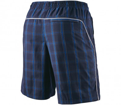 Nike NET 10 Plaid Wowen Short Bleu